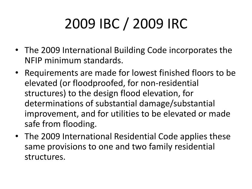 2009 IBC / 2009 IRC
