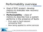 performability overview