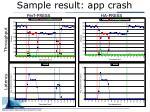 sample result app crash