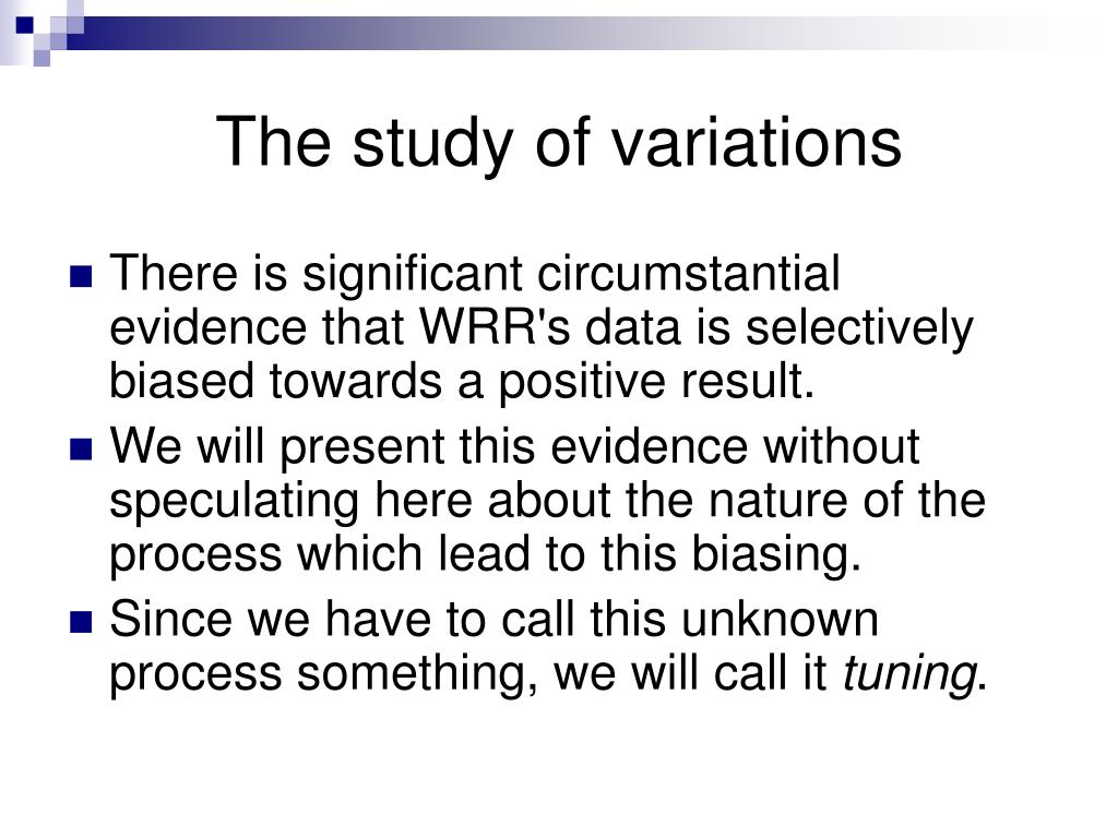 The study of variations