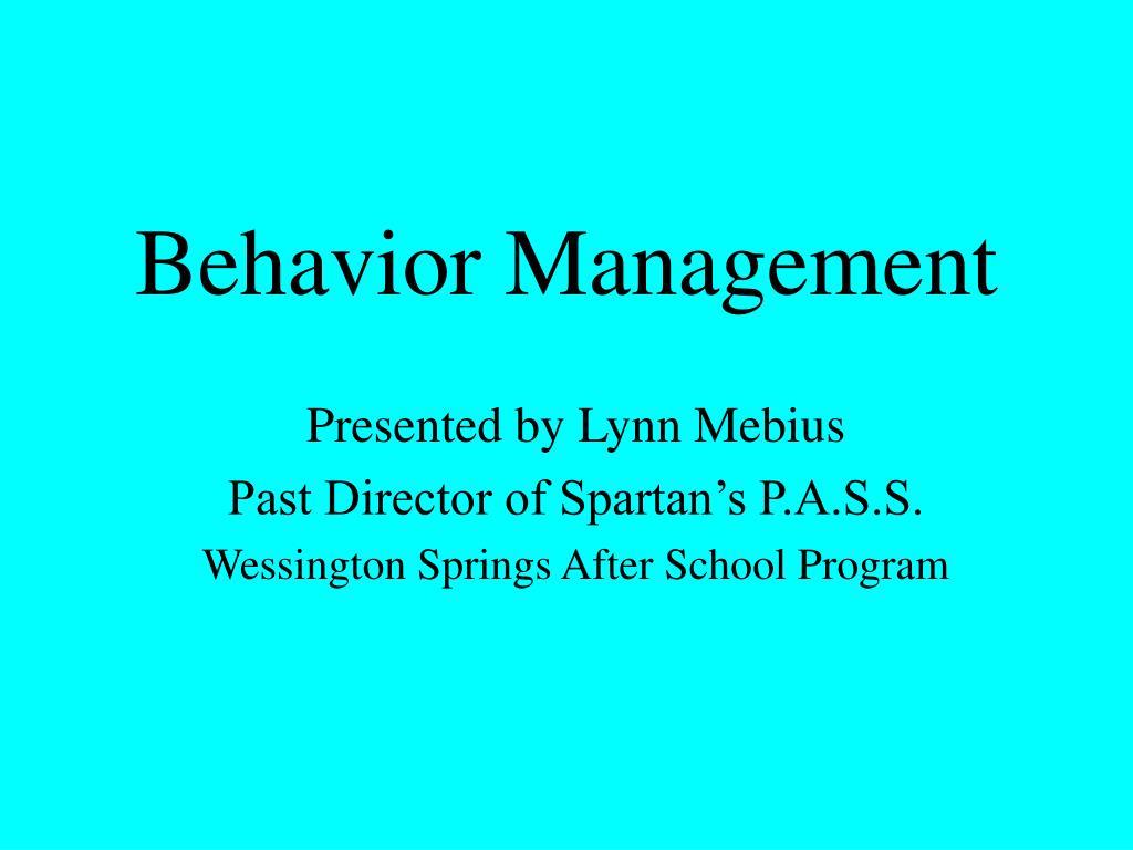 behavior management l.