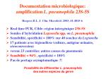 documentation microbiologique amplification l pneumophila 23s 5s