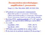 documentation microbiologique amplification s pneumoniae