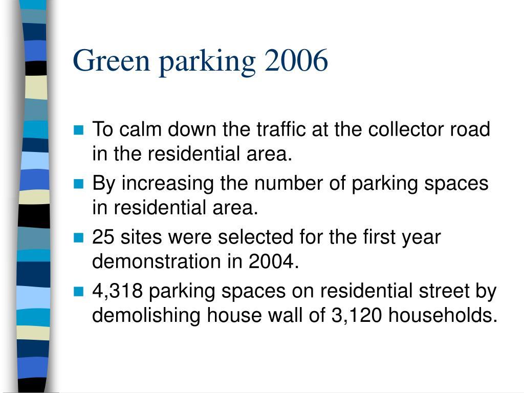 Green parking 2006