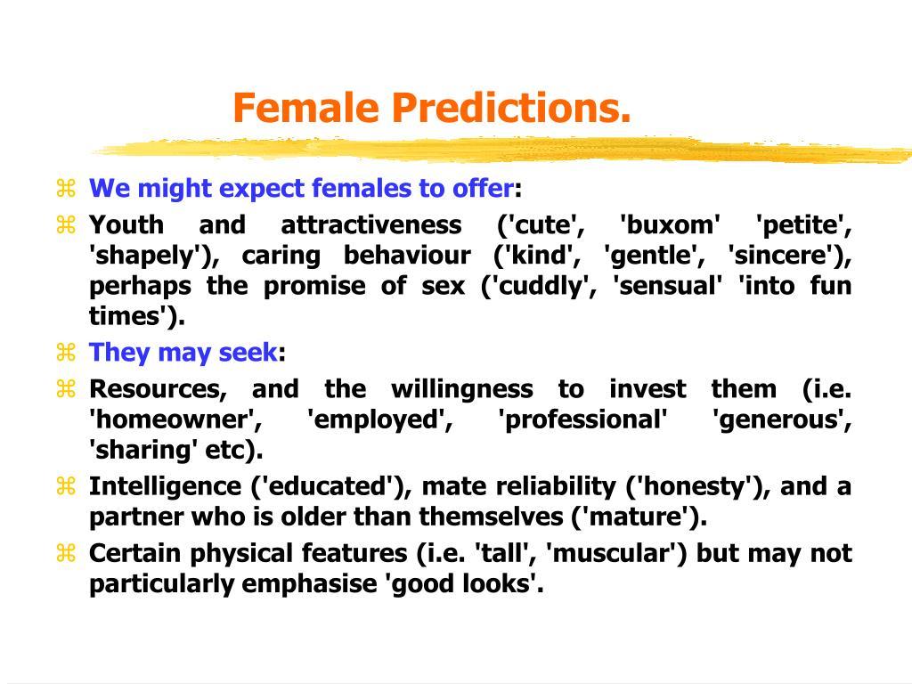 Female Predictions.