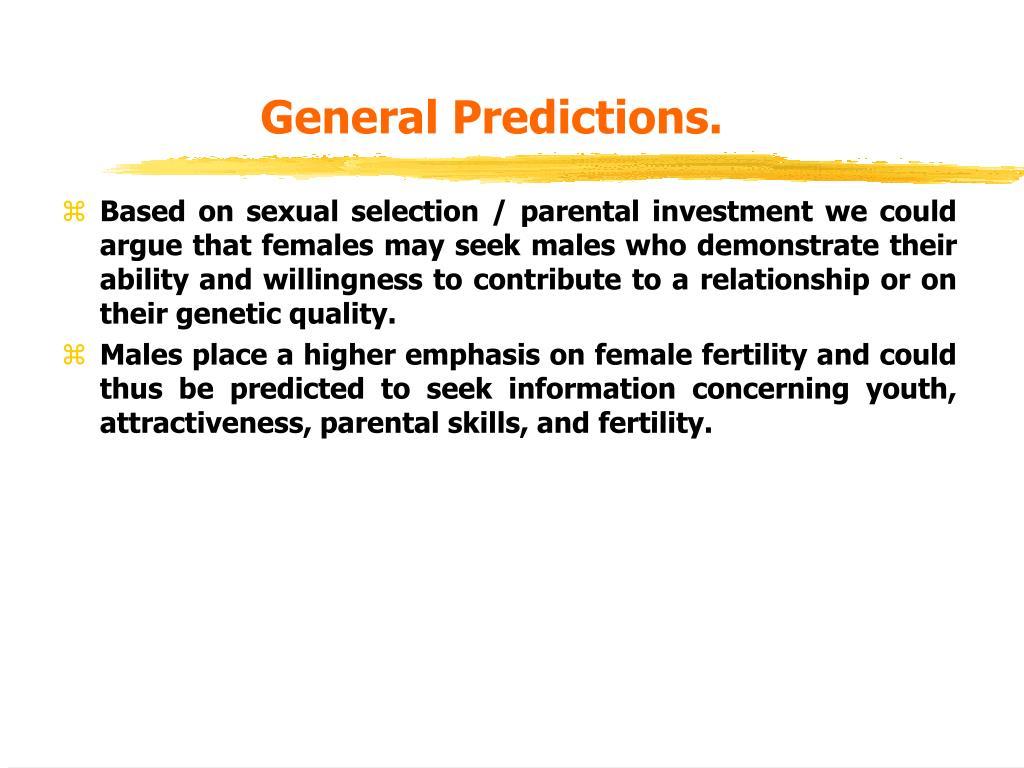 General Predictions.
