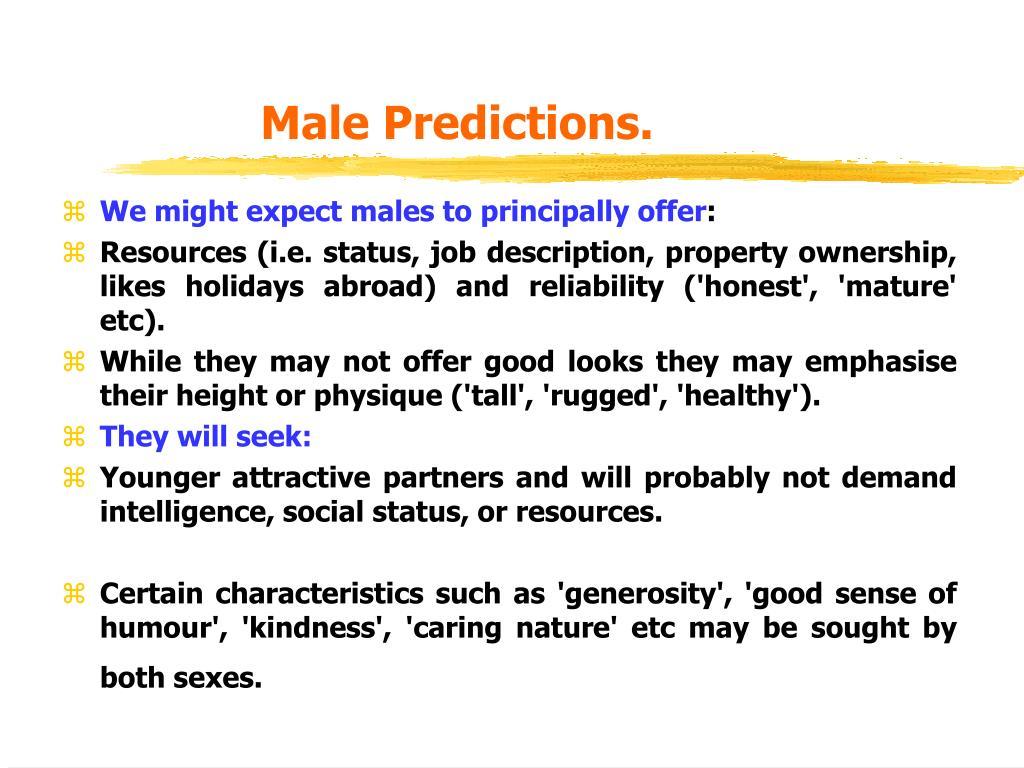 Male Predictions.