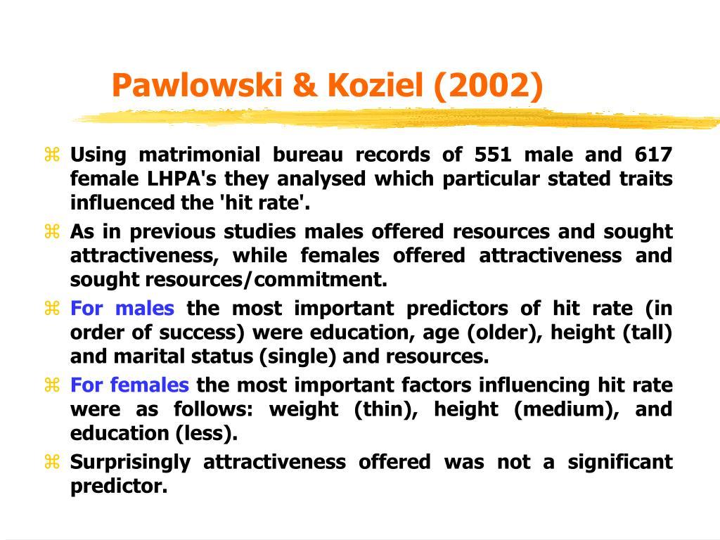 Pawlowski & Koziel (2002)