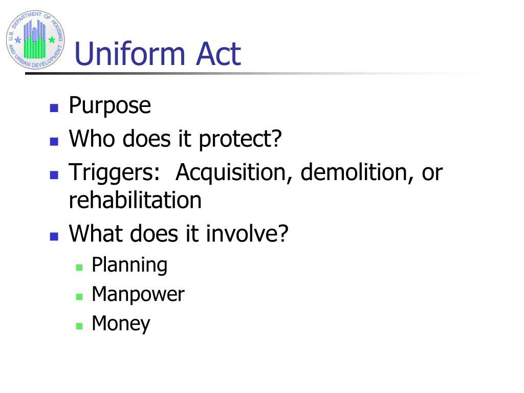 Uniform Act