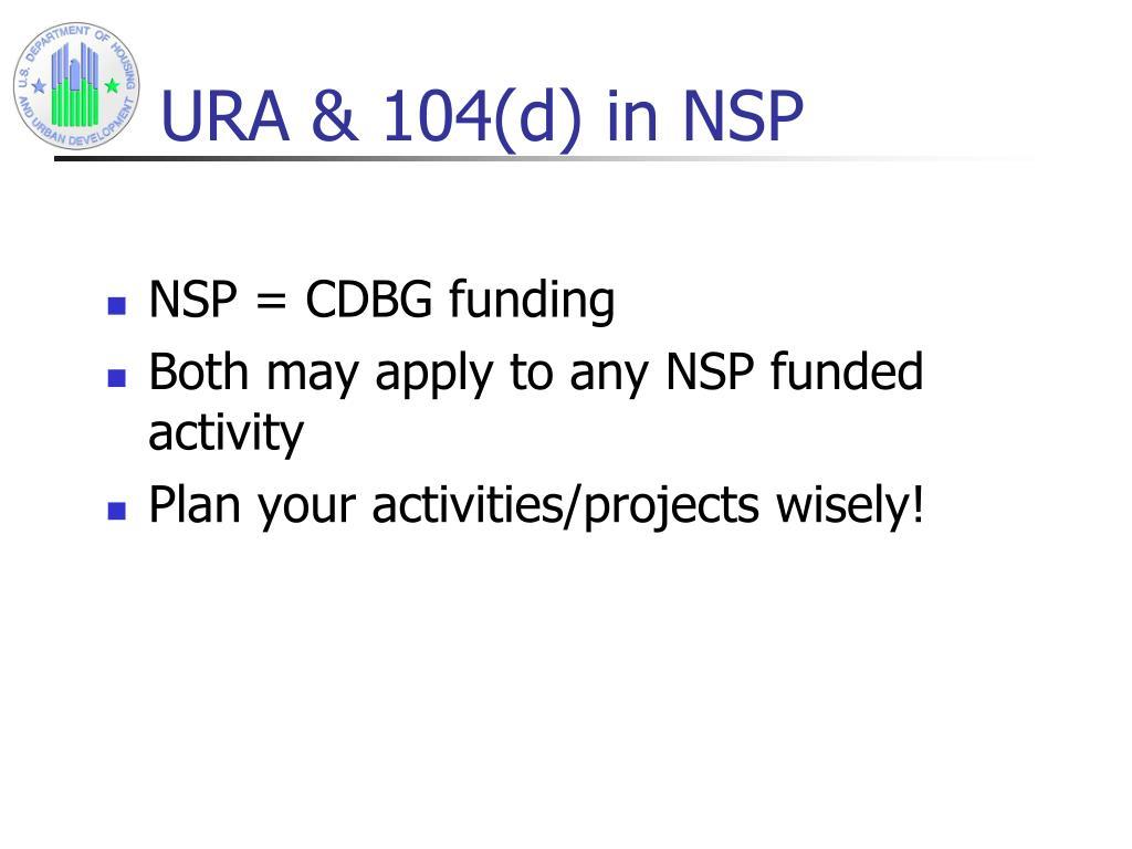 URA & 104(d) in NSP