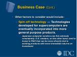 business case cont