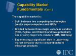 capability market fundamentals cont