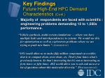 key findings future high end hpc demand characteristics cont16