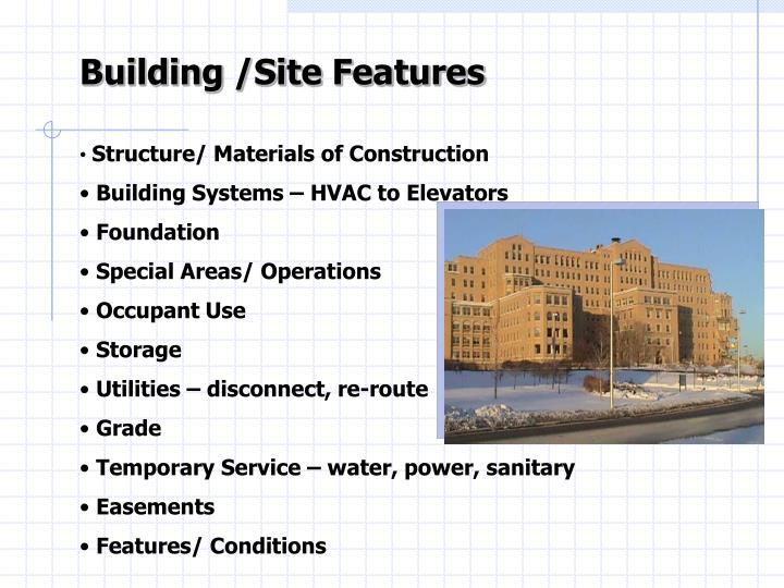 Building /Site Features