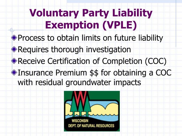 Process to obtain limits on future liability