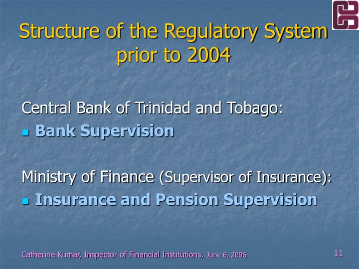 Structure of the Regulatory System