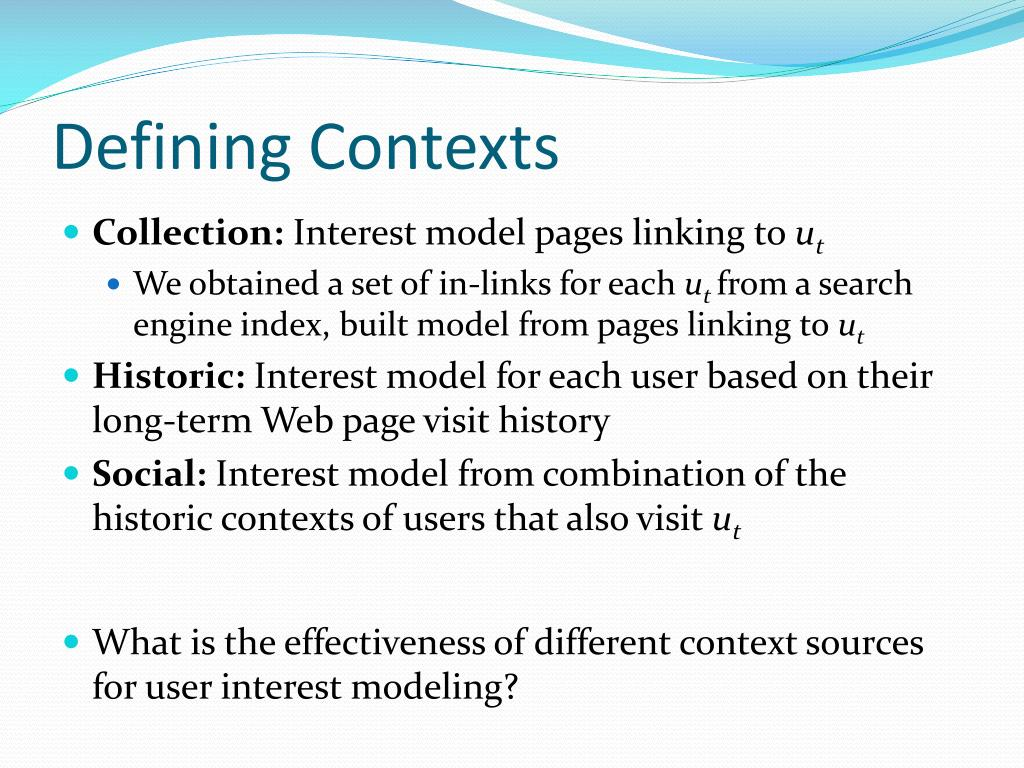 Defining Contexts