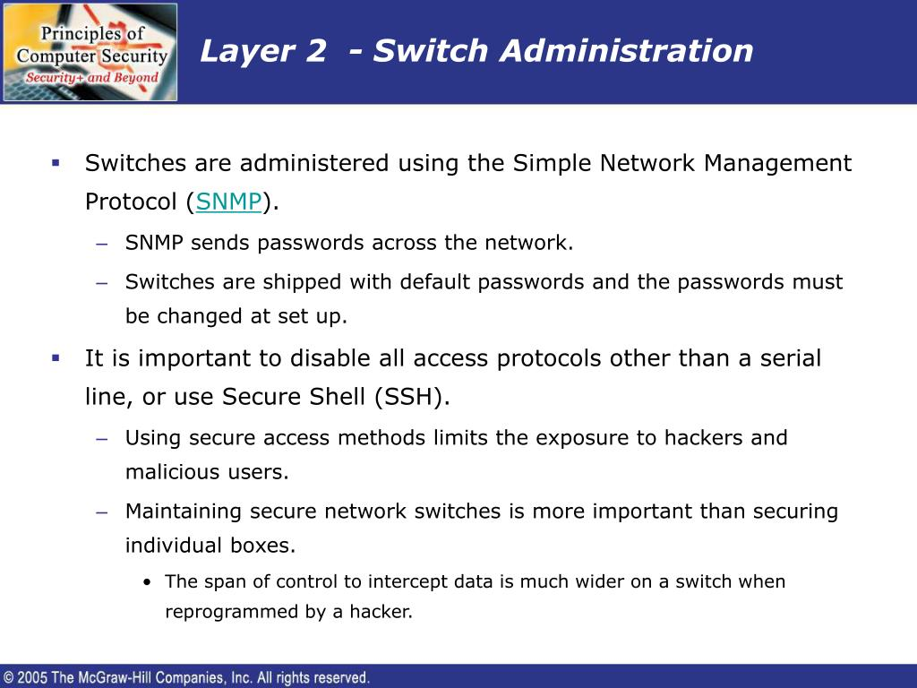 Layer 2  - Switch Administration