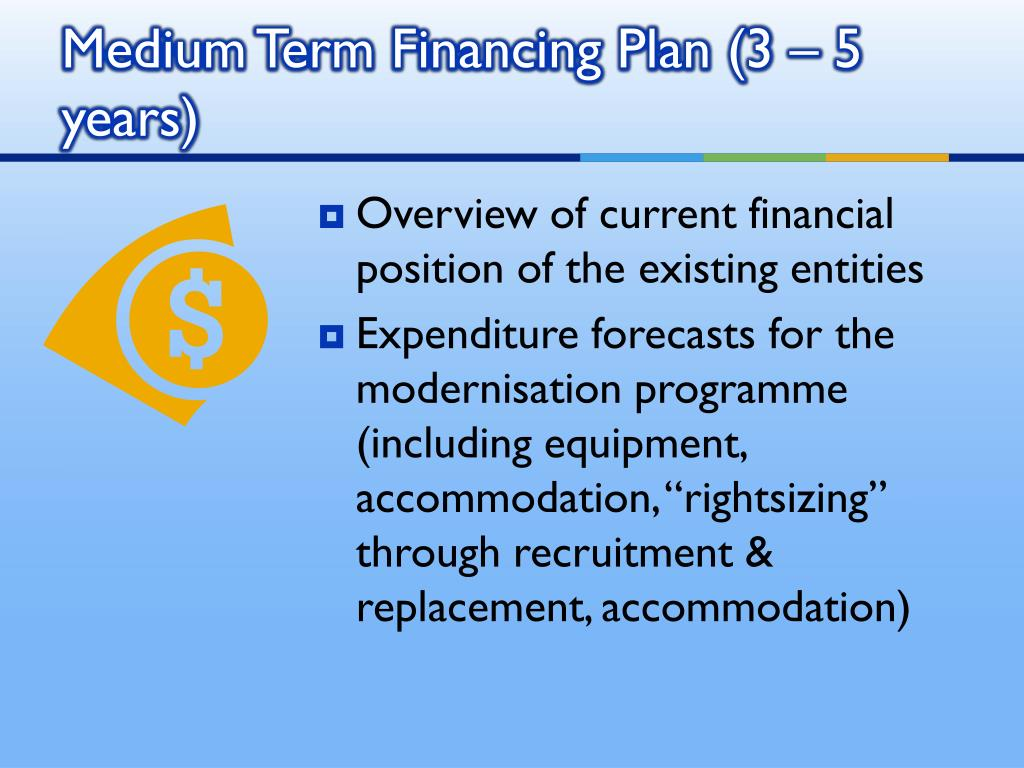 Overview of current financial position of the existing entities