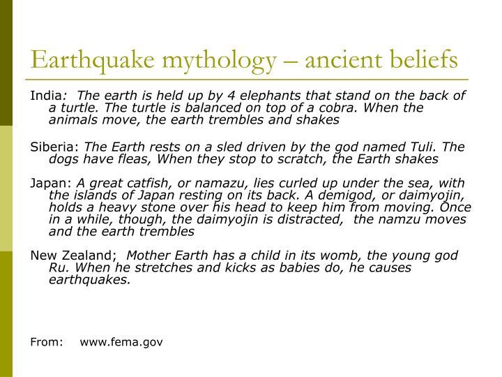 Earthquake mythology ancient beliefs