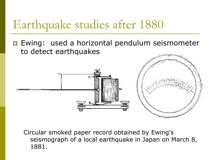 Earthquake studies after 1880