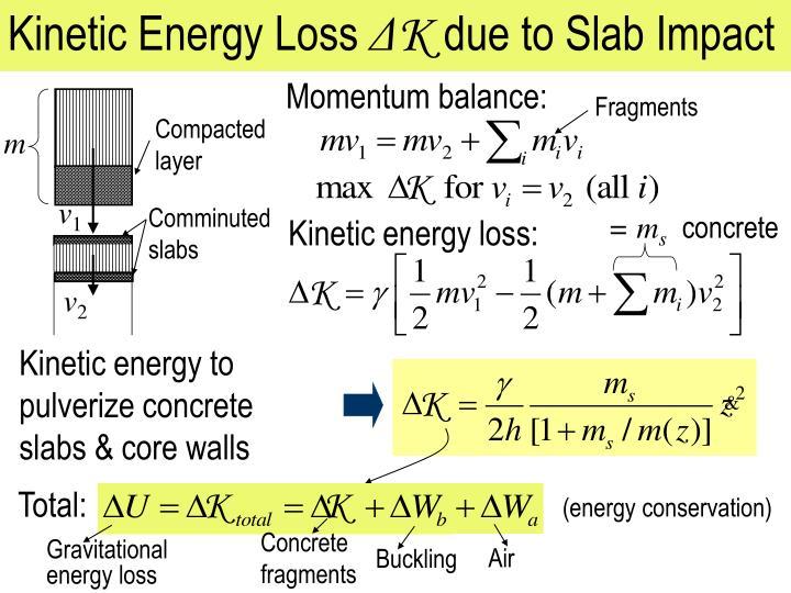 Kinetic Energy Loss