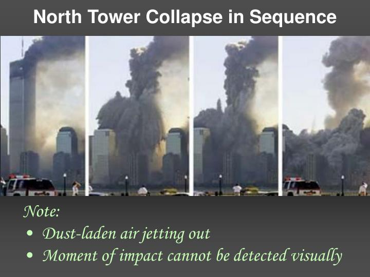 North Tower Collapse in Sequence