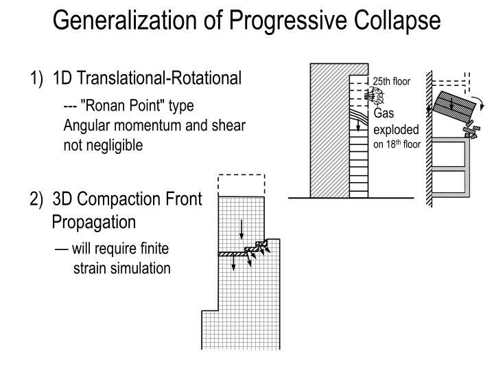 Generalization of Progressive Collapse