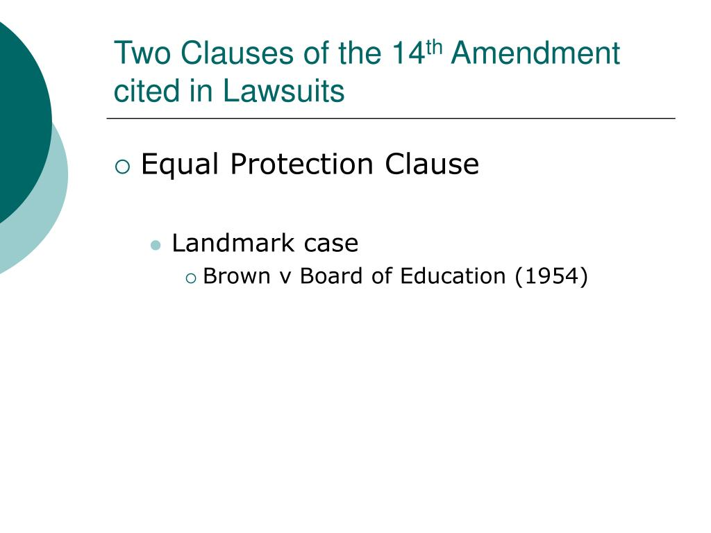 Two Clauses of the 14