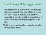 brief history wfa organisation