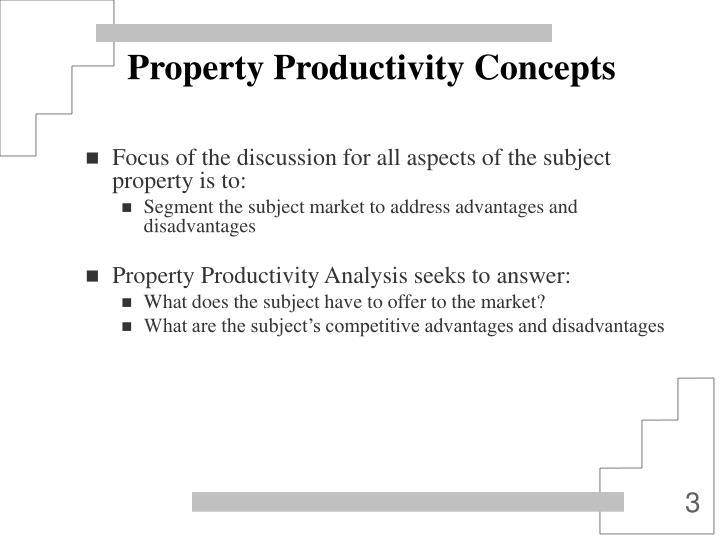 Property productivity concepts1