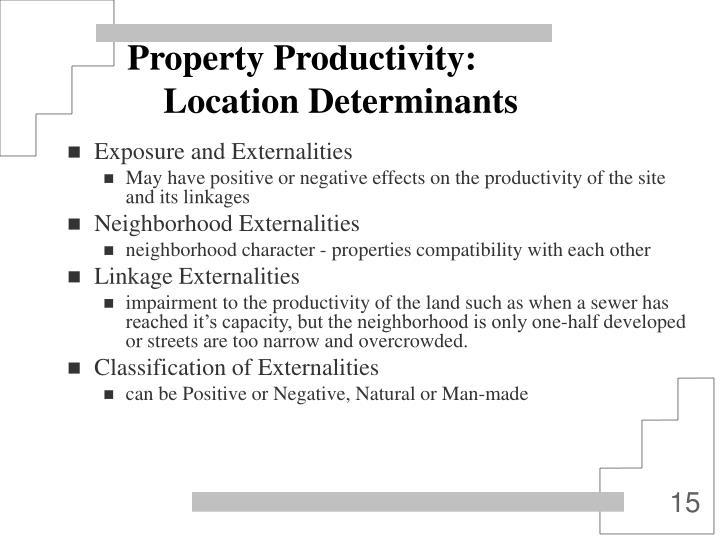 Property Productivity: