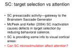 sc target selection vs attention