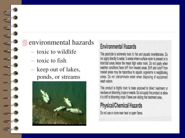 environmental hazards
