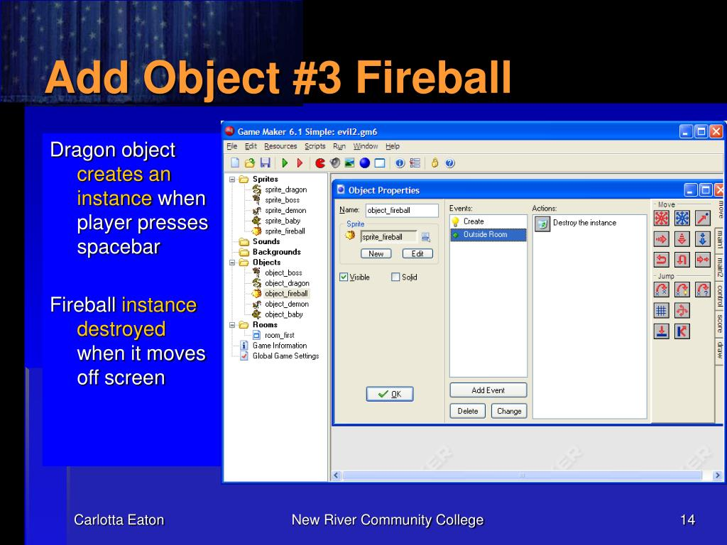 Add Object #3 Fireball