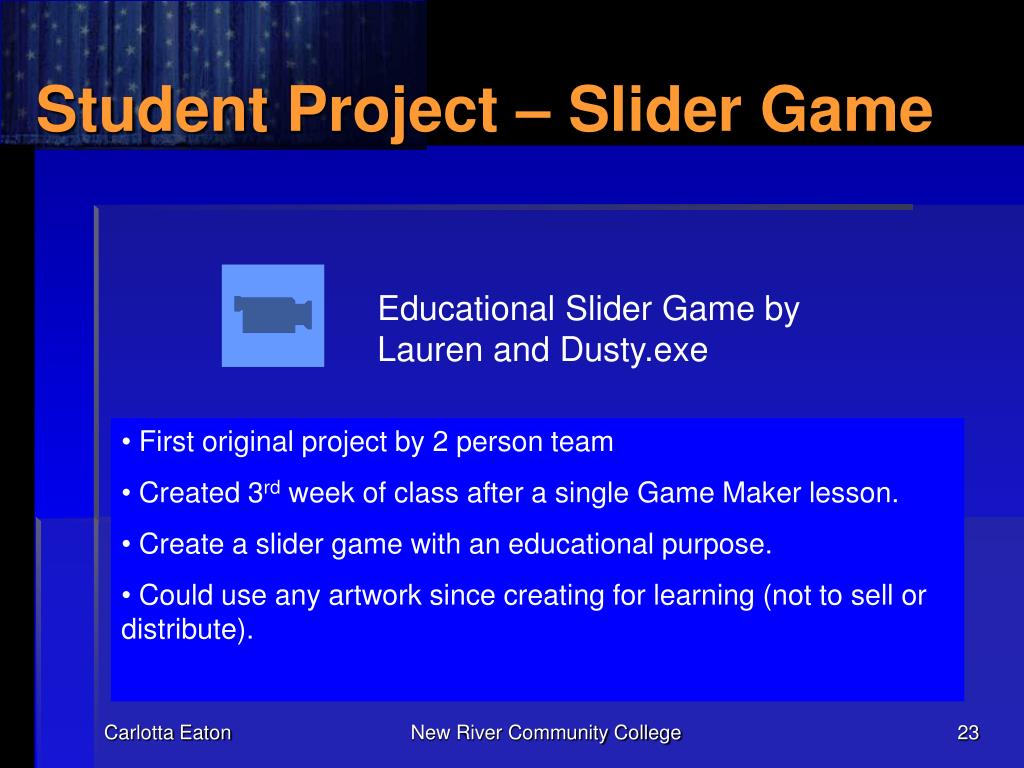 Student Project – Slider Game