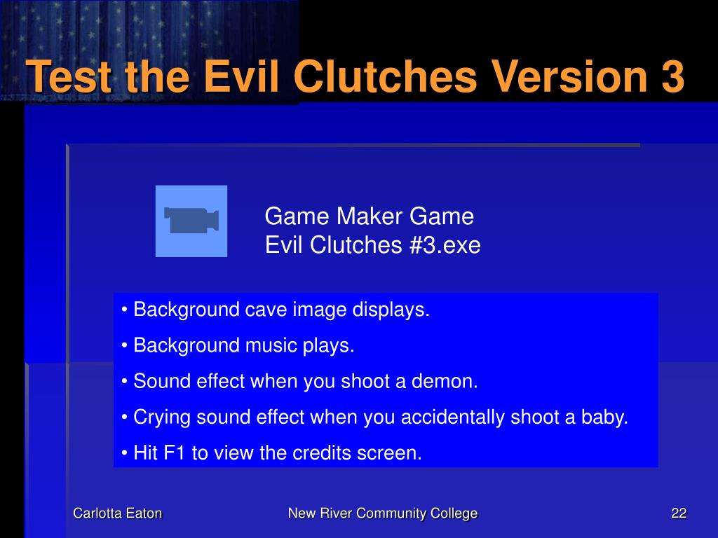 Test the Evil Clutches Version 3