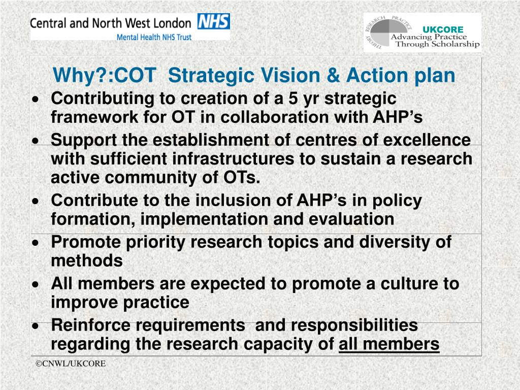 Why?:COT  Strategic Vision & Action plan