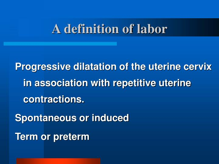 A definition of labor