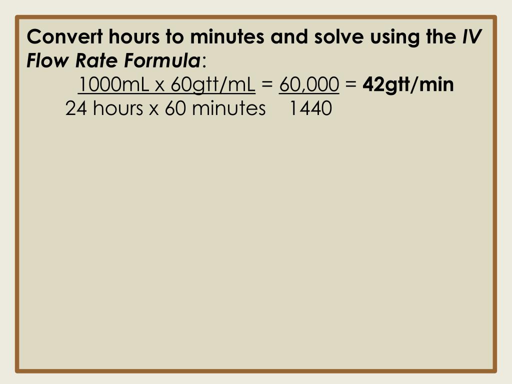 Convert hours to minutes and solve using the