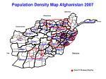 population density map afghanistan 2007