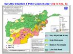 security situation polio cases in 2007 up to sep 13