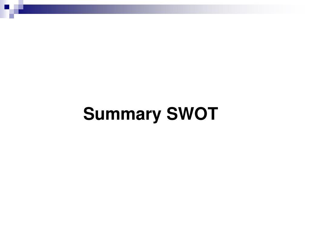 Summary SWOT