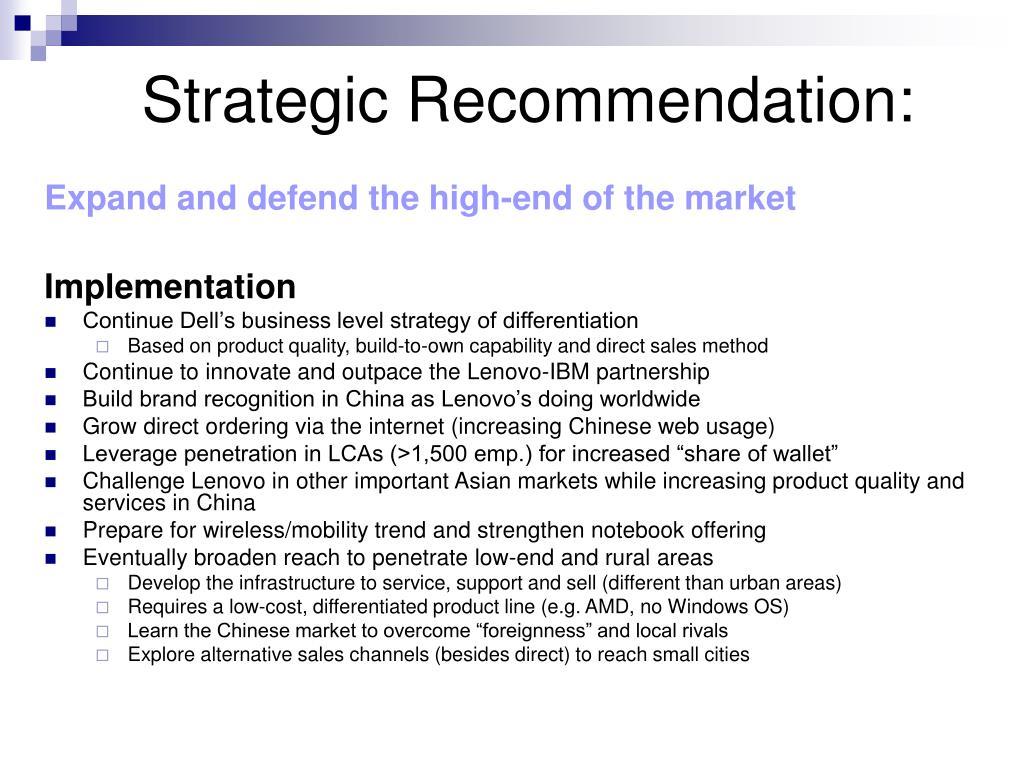 Strategic Recommendation: