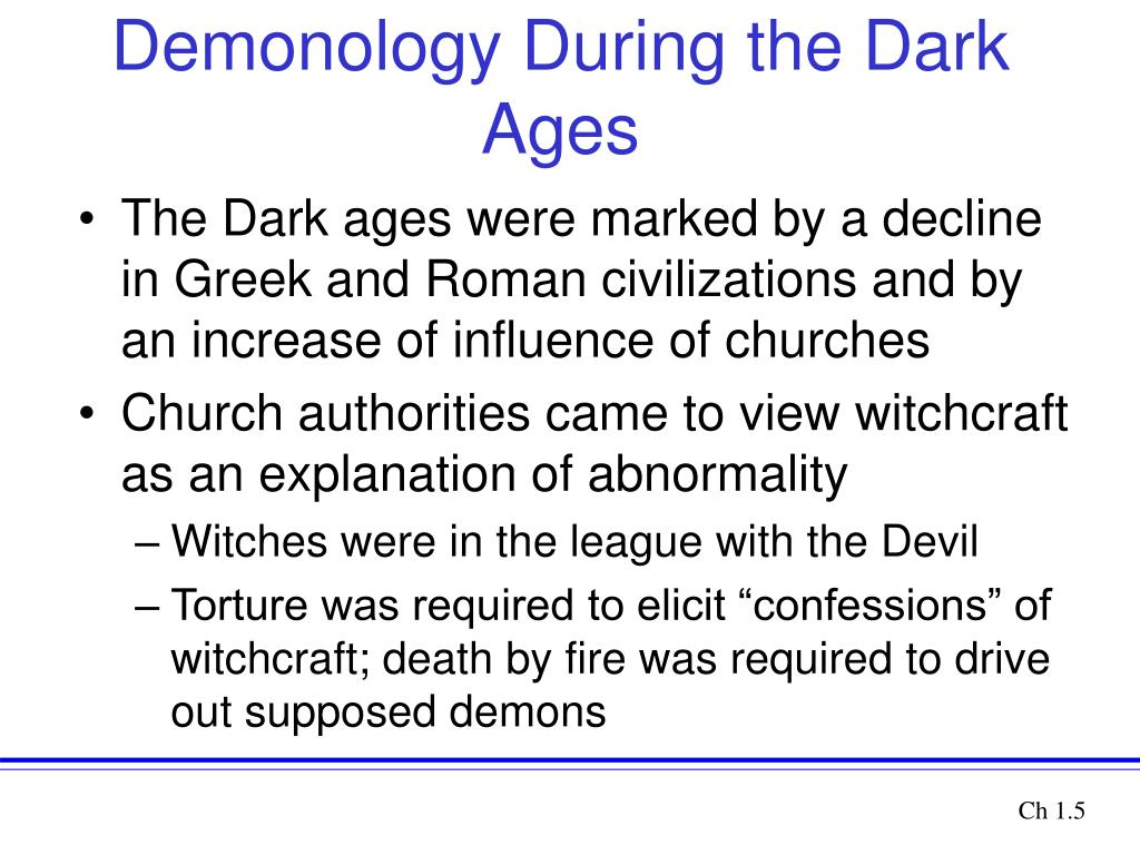 Demonology During the Dark Ages