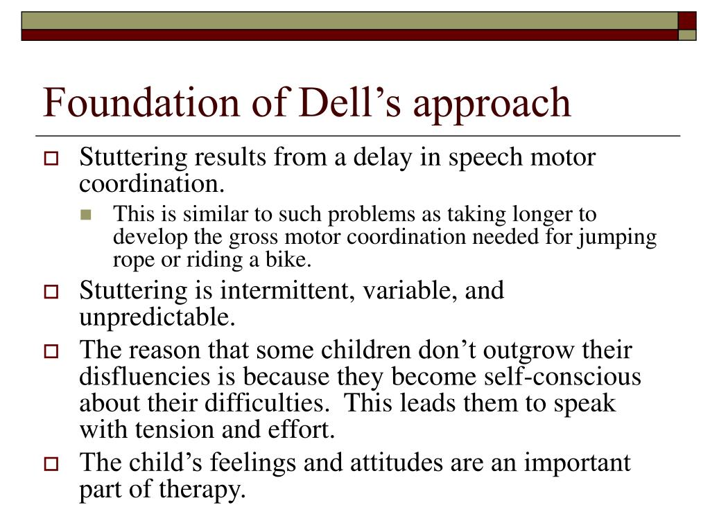 Foundation of Dell's approach