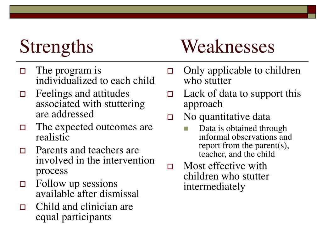 The program is individualized to each child