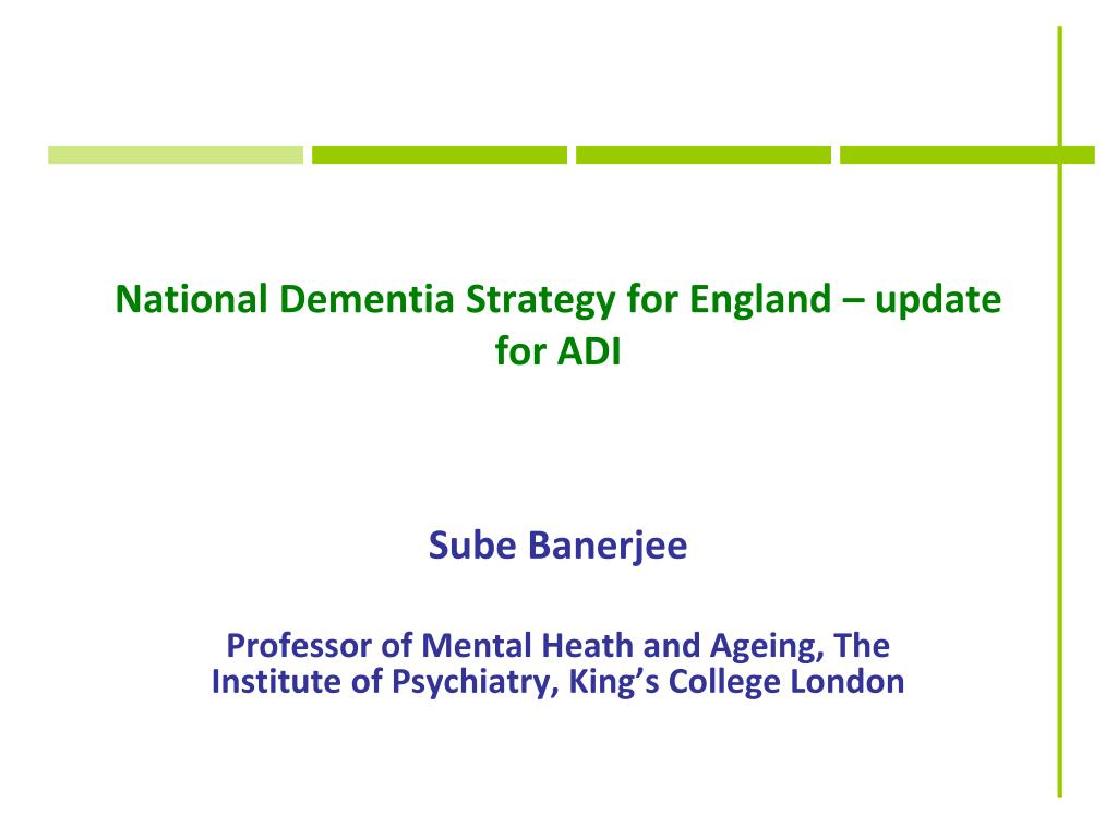 National Dementia Strategy for England – update for ADI