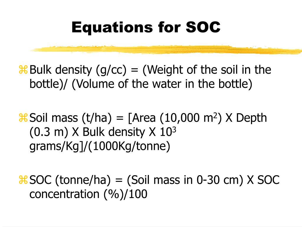 Equations for SOC