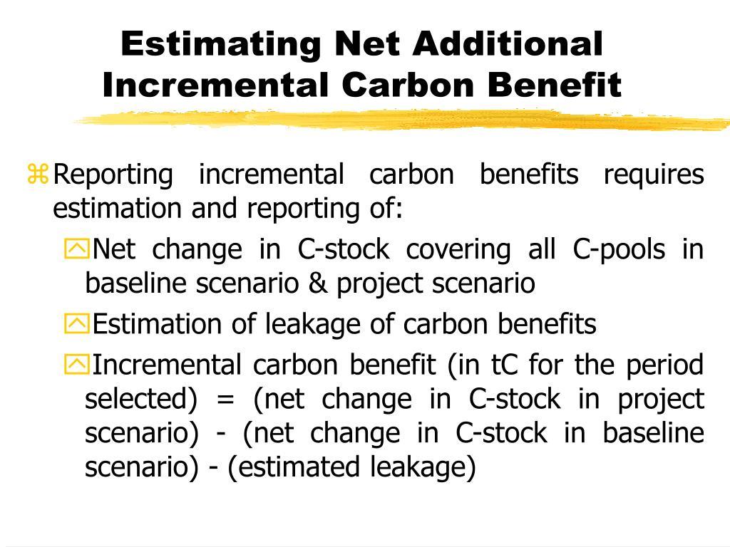 Estimating Net Additional Incremental Carbon Benefit
